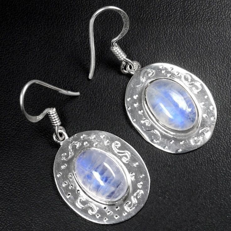 sve0200 Fine 925 Sterling Silver High Quality Top Moonstone Earrings Jewelry $ #Unbranded