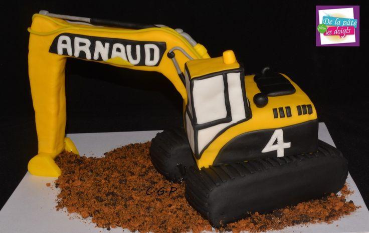 Cake sculpté Pelleteuse