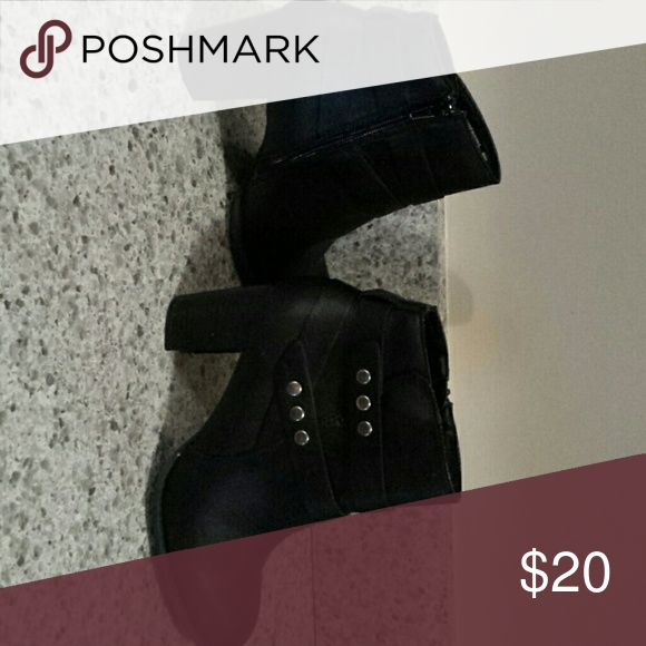 Ladies boots Black ankle boots with rivet bands jacylyn smith Shoes Ankle Boots & Booties