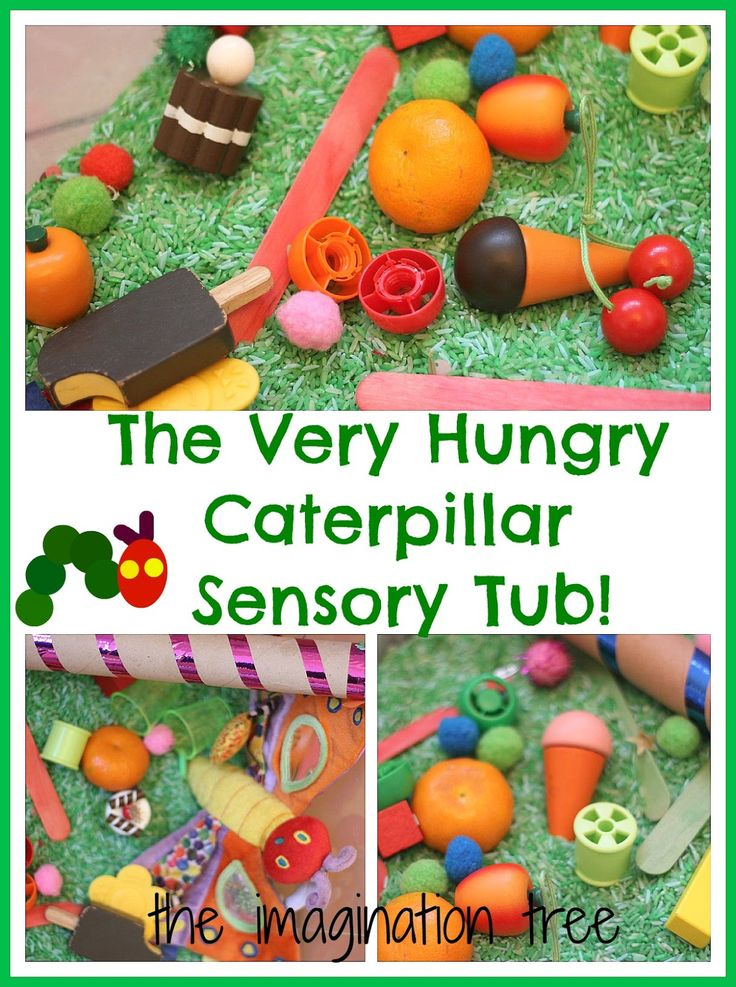 The Imagination Tree: The Very Hungry Caterpillar Sensory Storytelling Tub