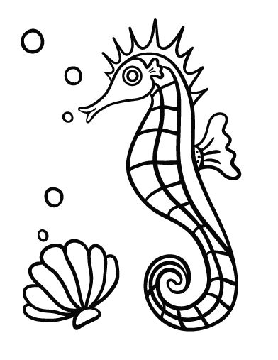 Printable Seahorse Coloring Page Free PDF Download At