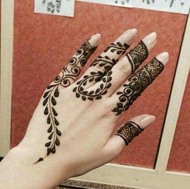 simple henna designs for fingers. this stylish mehndi design idea is awesomein modern days every girl use henna because they want to look perfect apply gorgeous simple designs for fingers