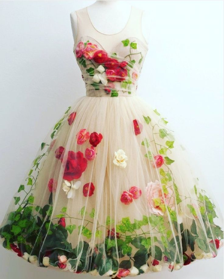 """Nothing says """"girly girl"""" more than a floral flouncy dress!"""