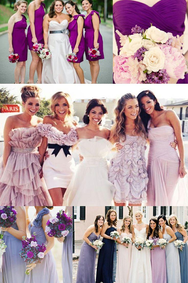 lila und pink Brautjungfer Kleid 2014 Trends 4