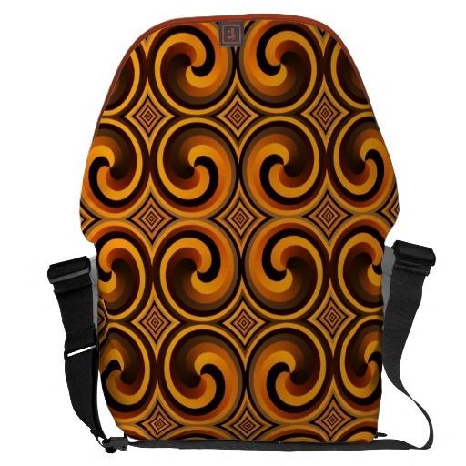vintage spiral pattern large Messenger Bag
