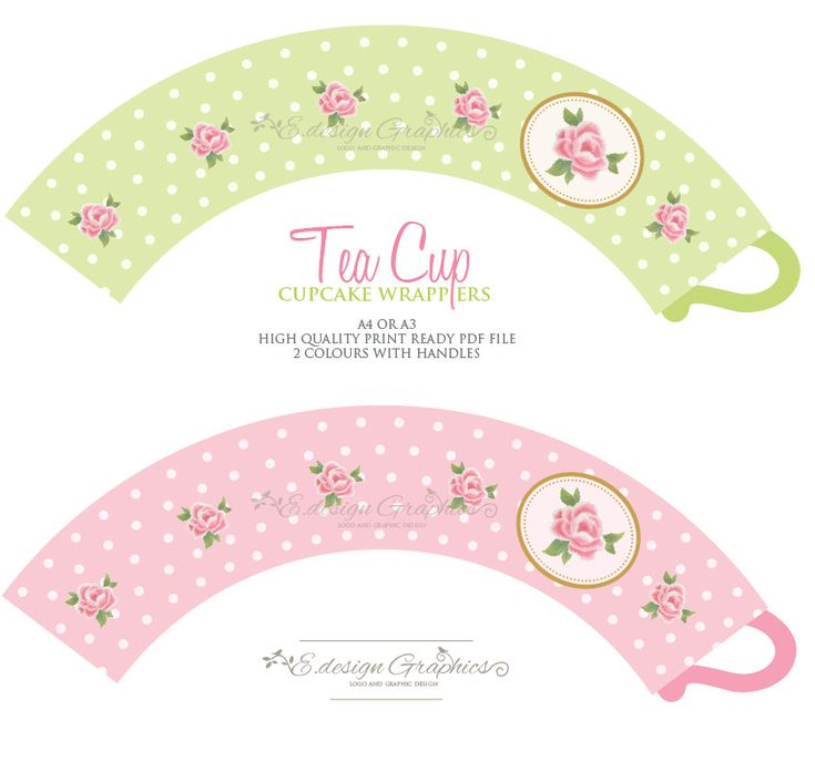 tea cup - cupcake wrappers