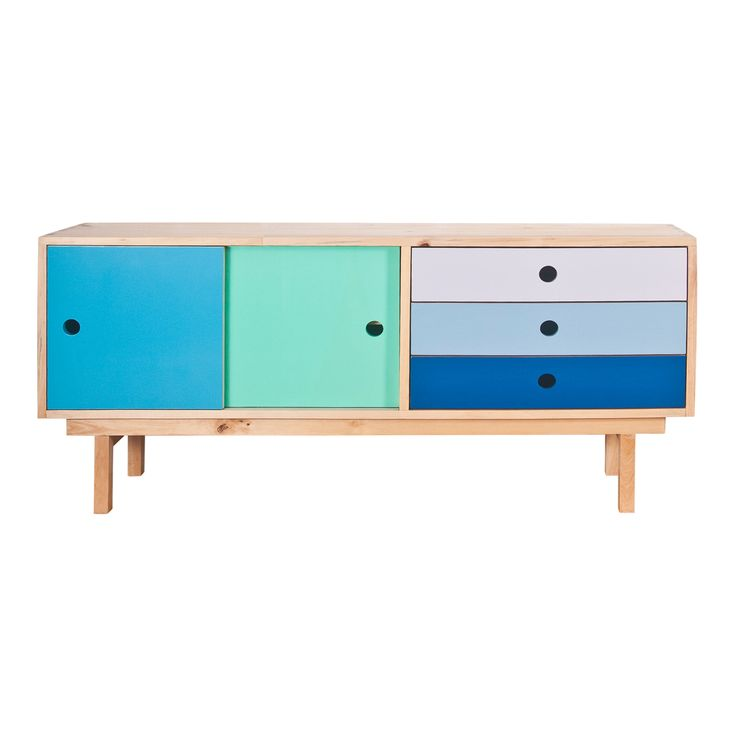 I can't get over just how fabulous this buffet is. Recycled timber ocean painted sideboard from The Family Love Tree.
