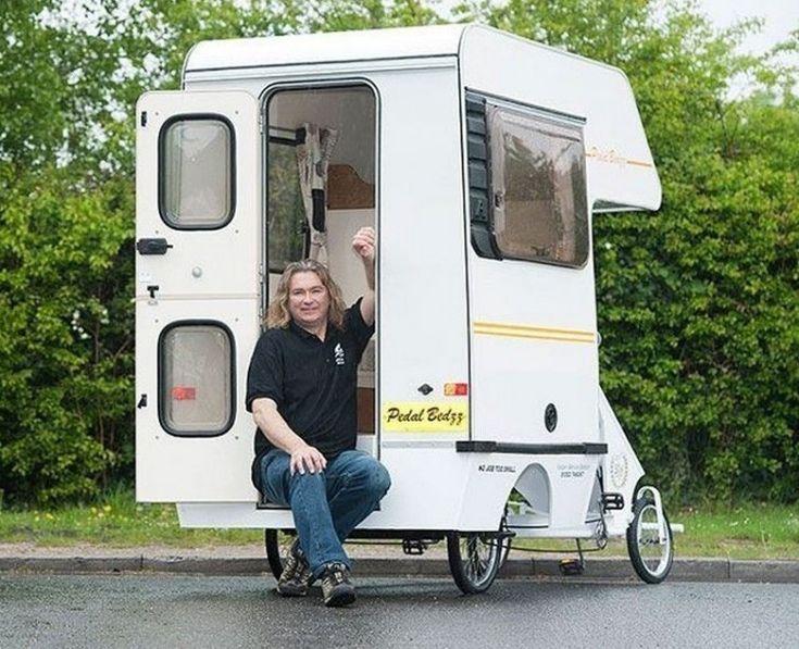 casa rodante pequeña. Este hombre construyó la casa rodante más pequeña del mundo para viajar adonde siempre soñó
