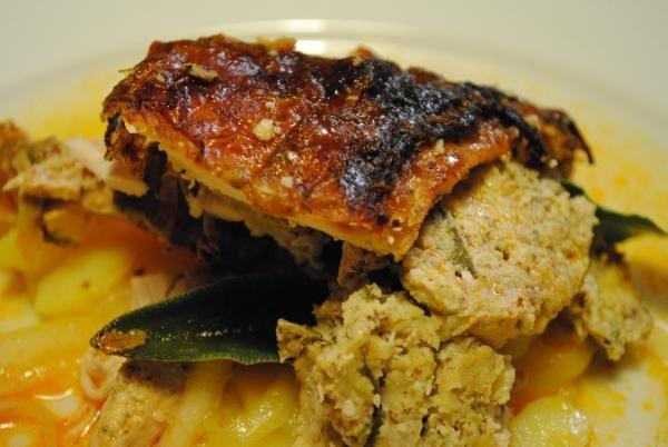 Recept: Morka s mandľovou plnkou a starodávnym zemiakovým šalátom | Nebíčko v papuľke