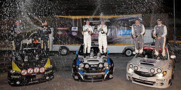 2014 Subaru WRX STI and 2008 WRX STI Snow* Drift victories