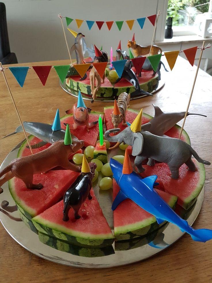 Watermeloen traktatie #gezond#hema#dieren