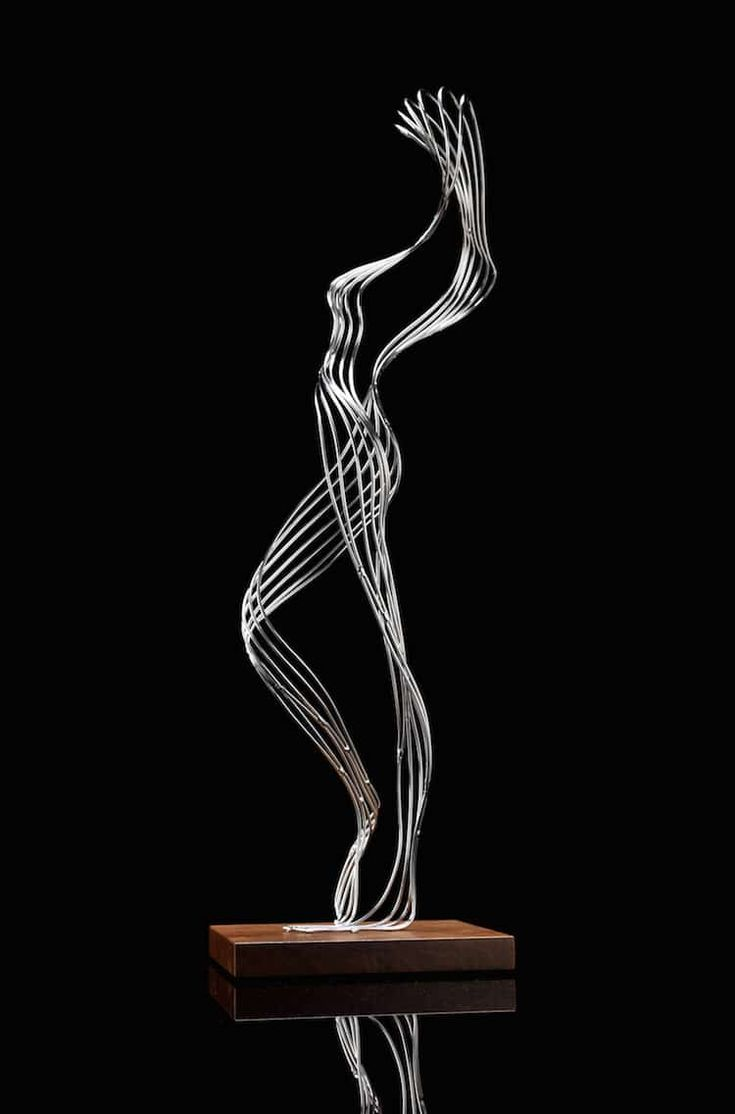 Figurative Steel Wire Sculptures Are Metal Masterpieces Merging Nature With Fantasy