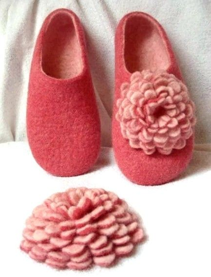 Felted wool slippers pattern and how to felt instructions