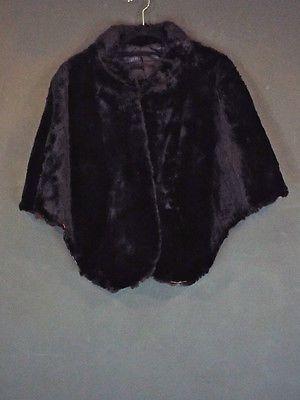 Vintage Black Lamb Fur Shrug Capelet Cape Ladies Medium To Large Wdv1513