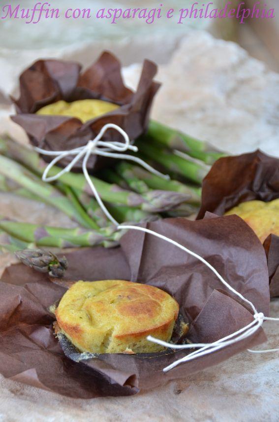 Muffin con asparagi e philadelphia