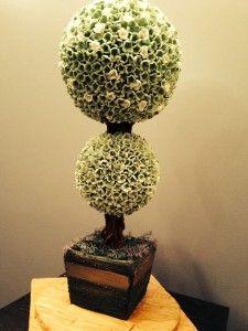 Three tiered Topiary Wedding Cake