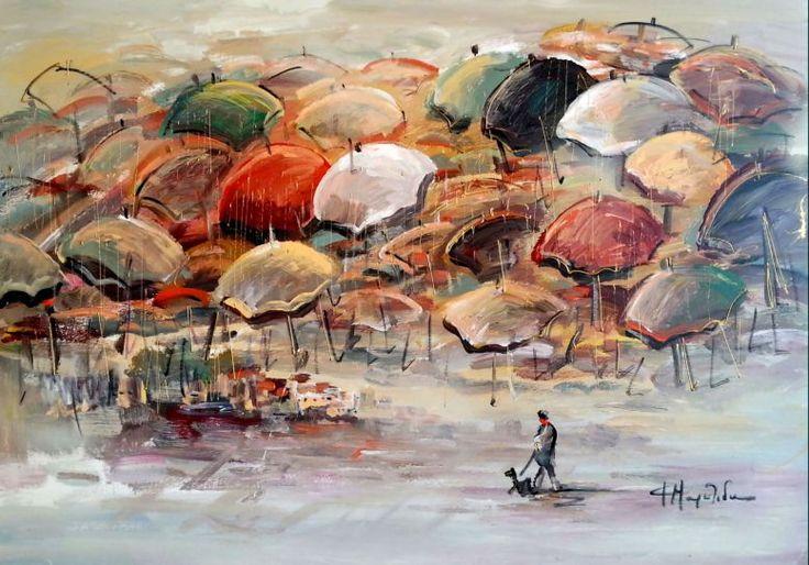 Αποτέλεσμα εικόνας για πινακες ζωγραφικης με ομπρελες