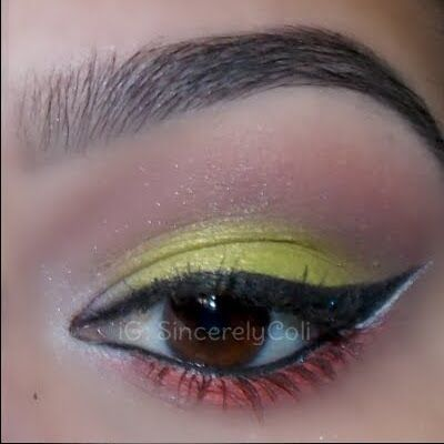 Coli's Lime and Coral Duo shows off her MAKE UP FOR EVER Artist Shadows in super high impact mode. See the must have shades by clicking on the pic.