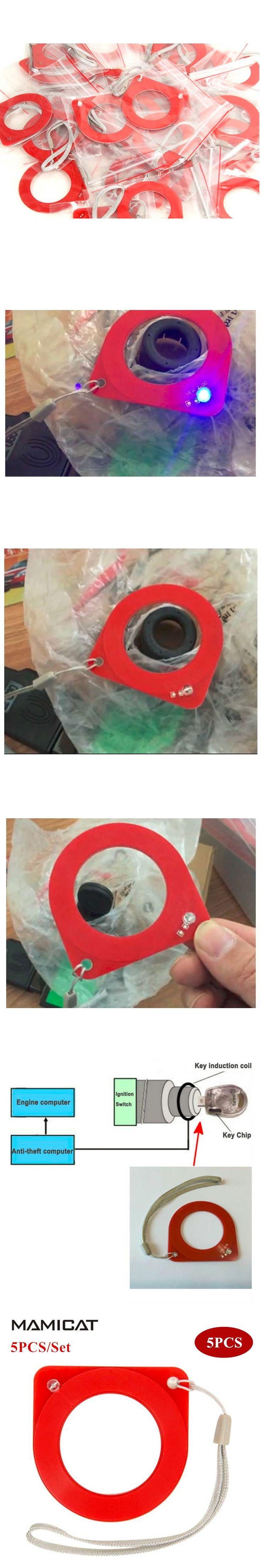 5PCS/SET Car Key ECU Induction Signal Detection Card Auto ECU Test Coil Card Car OBD OBD2 Diagnostic Tool Free Shipping
