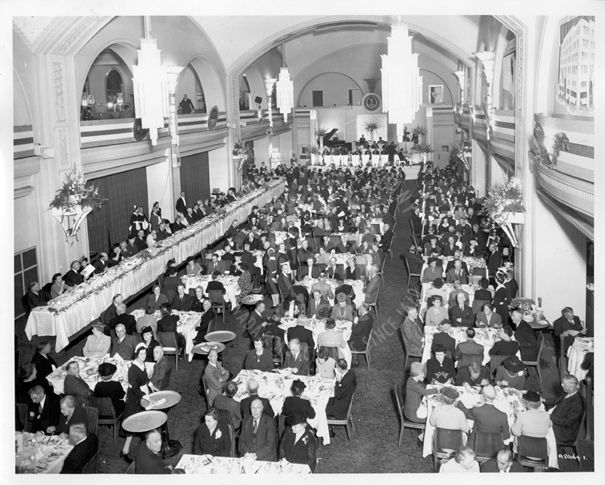 Dinner event in the Arcadian Court, Simpsons, Toronto, September 14, 1944