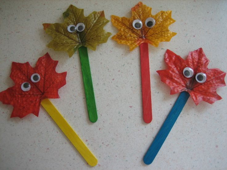 Leaf puppets! You could also create these as pencil toppers.
