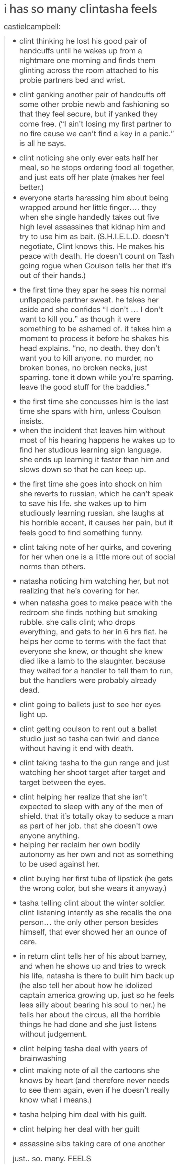 Not much of a Clintasha shipper, but this was like the most precious, feels-inducing thing I've ever read.