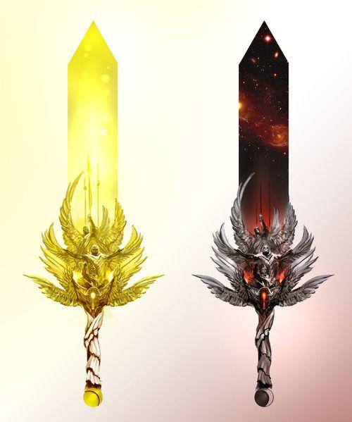 art fantasy concept weapons legendary guild wars 2