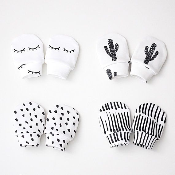 No scratch baby mittens organic cotton baby by RockyRacoonApparel