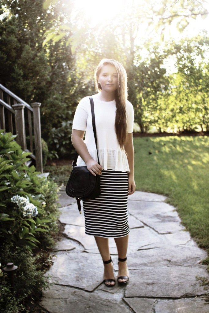 Simple striped skirt