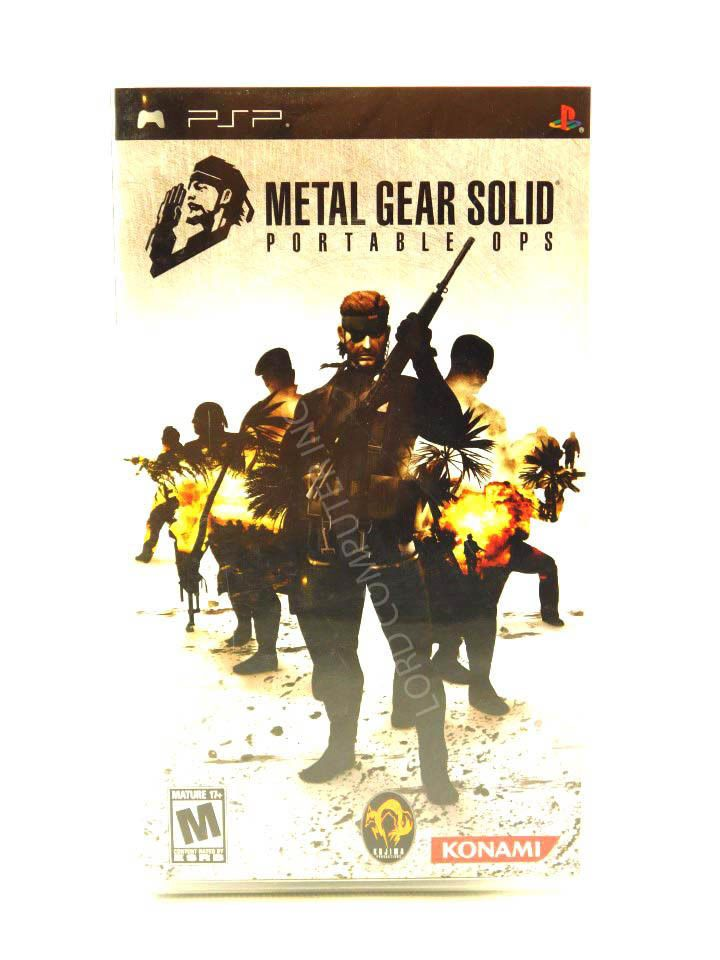 Metal Gear Solid: Portable Ops boasts ground-breaking online play that lets gamers recruit comrades to form a unique fighting force. The game follows the events of Metal Gear Solid 3: Snake Eater, as Naked Snake establishes FOXHOUND in an attempt to hunt down the treacherous FOX unit, which has started a bloody revolt in South America. | eBay!