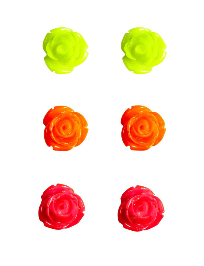 Neon Rose Studs | Earrings | Jewelry | Shop Justice