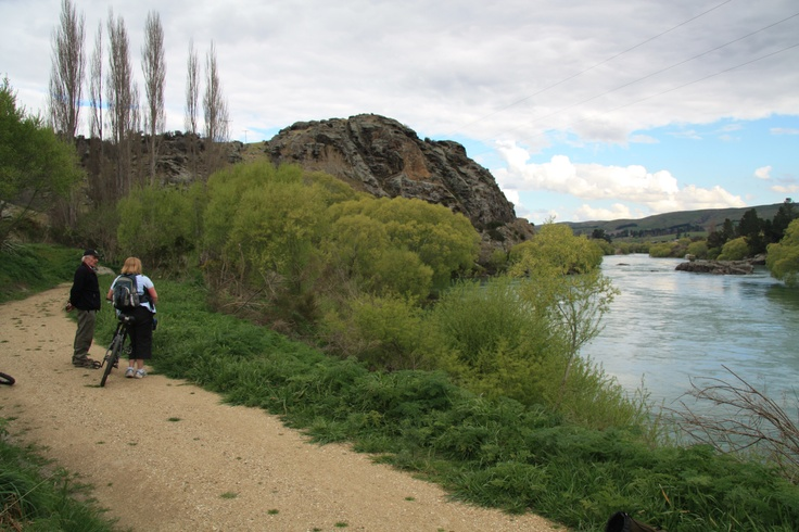 Views of the Clutha River in Otago, New Zealand from the Clutha Gold River Trail - Opening in 2013.
