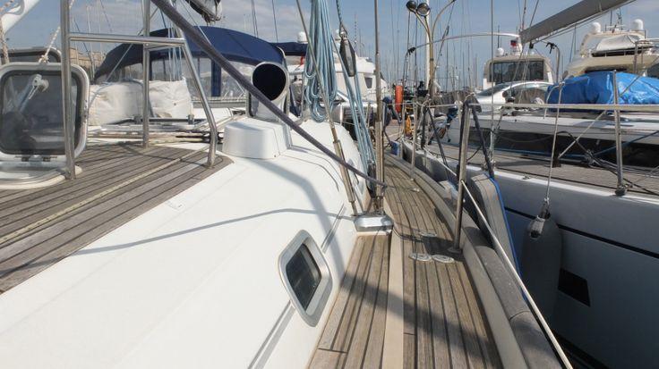 deck detail of Cochiel SailYacht, great beneteau 50, 15 mt long,   to charter it mycochielATgmail.com  check www.facebook.com/cochielsailyacht