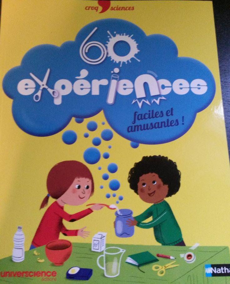60 expériences scientifiques faciles et amusantes pour les enfants dès 3 ans.