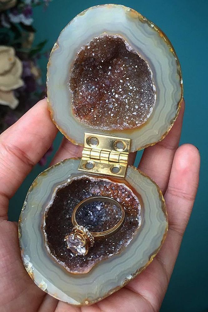27 Creative Engagement Ring Boxes For Perfect Proposal ❤️ engagement ring boxes mineral box unique ❤️ See more: http://www.weddingforward.com/engagement-ring-boxes/ #weddingforward #wedding #bride