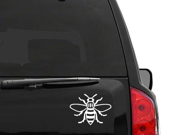 Vinyl Manchester Bee Decal Sticker for Cars and Laptops
