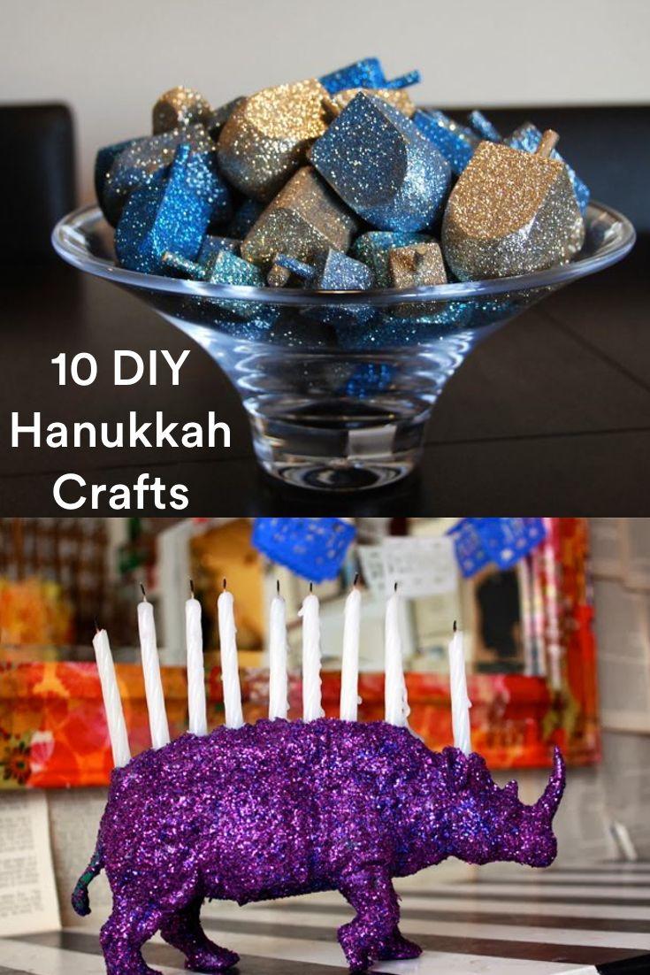 10 Hanukkah Crafts and DIY Menorahs