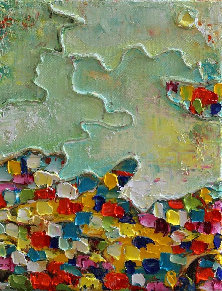 Landscape- Original Mixed Media Abstract Painting. $40.00, via Etsy.
