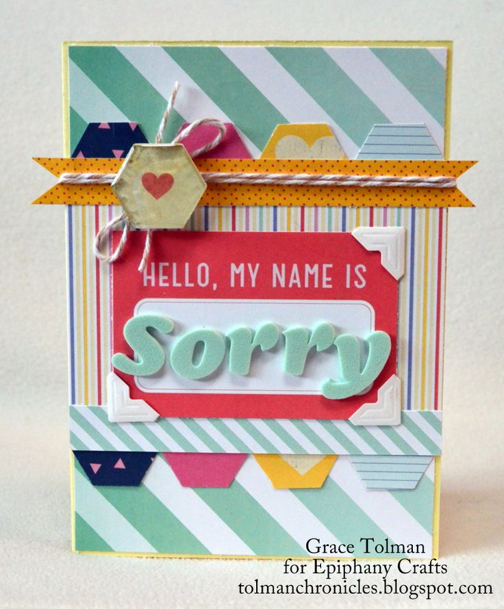 22 best sorry images on Pinterest Sorry cards, Diy cards and - free printable apology cards
