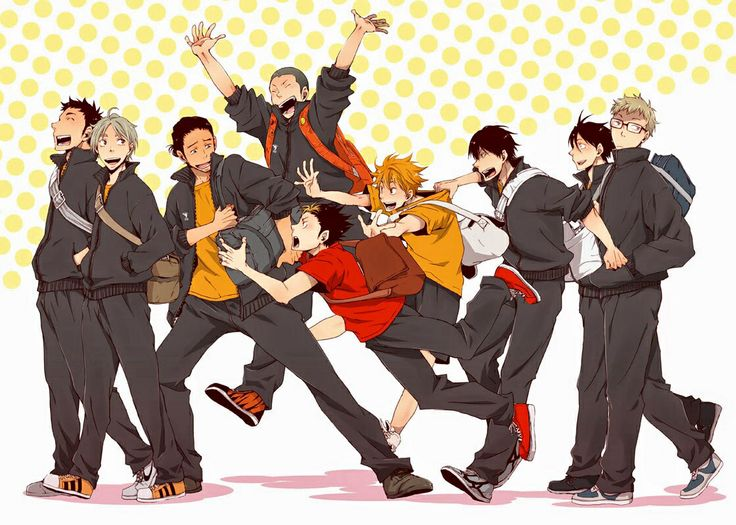 Anyone else obsessed with this new anime #Haikyuu