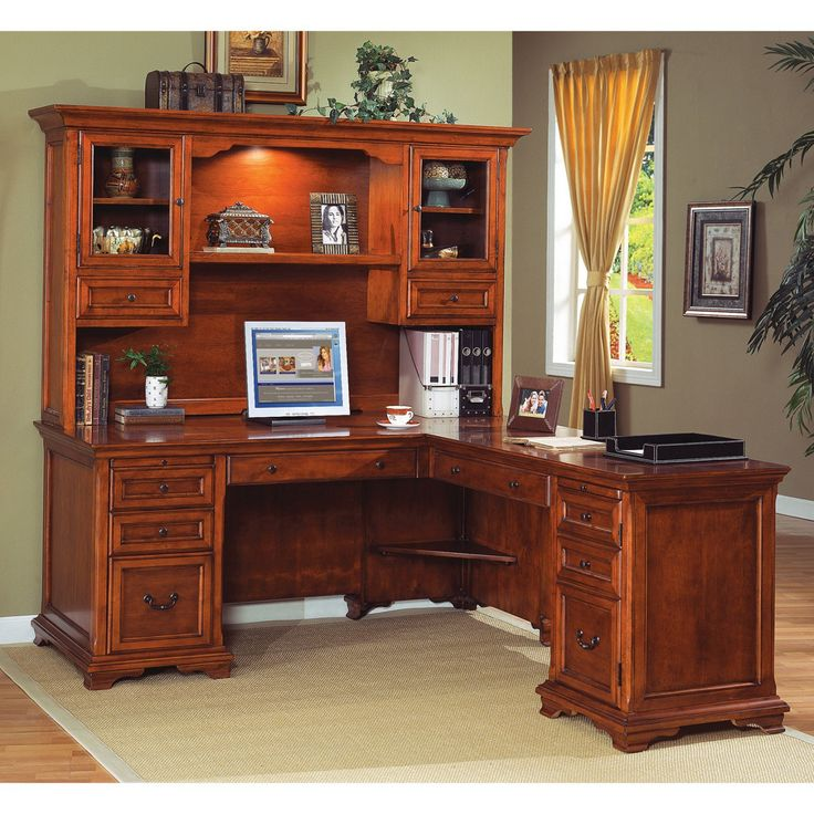 Best 25+ Office desk with hutch ideas on Pinterest | White desk ...