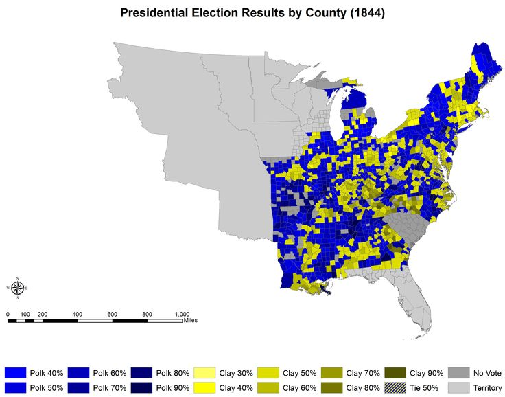 US Presidential Election Of By County - Polk us map