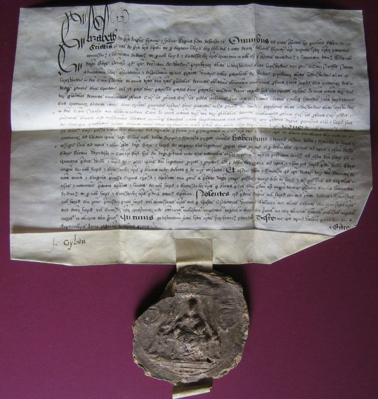 Licence by letters patent of Queen Elizabeth