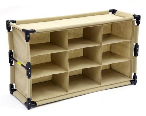 Khaki Folding Organizer One 1 Closet Shelf Vehicle Storage