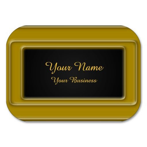 Minimalist Golden Metallic Business Cards