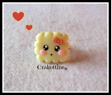 ★ Bague Biscuit kawaii phospho ★  de =(◕.◕)=Les gourmandises de Crakottine =(◕.◕)= sur DaWanda.com