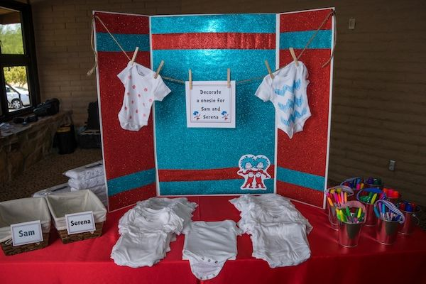 Dr Seuss Baby Shower Ideas | Dr. Seuss Onsies for Sam and Serena