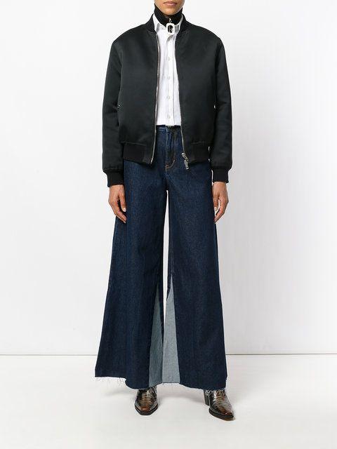 Ck Jeans 磨损边喇叭牛仔裤