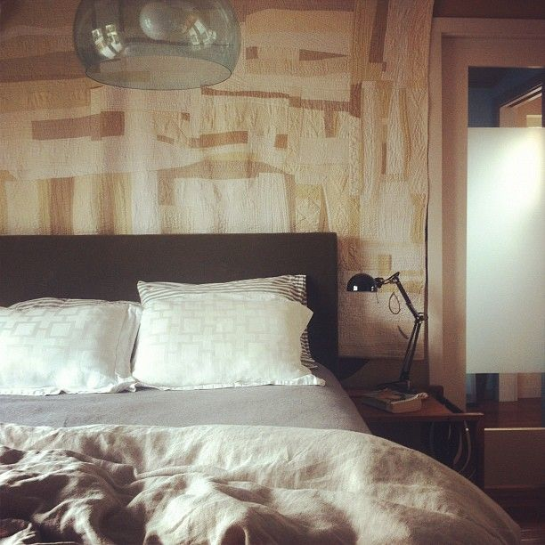 upholstered headboard. more photos:  http://thekidcollective.com/projects/projects-upholstered-headboard/