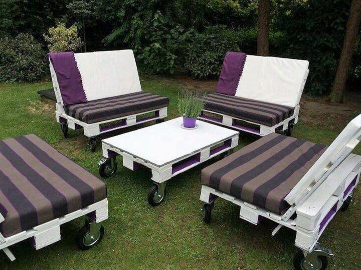 garden furniture from wooden pallets. diy creative ideas for pallet wood recycling garden furniture from wooden pallets